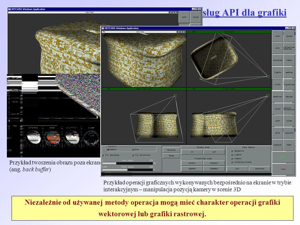 Ogólne zasady korzystania z podstawowych usług API dla grafiki komputerowej 2D: