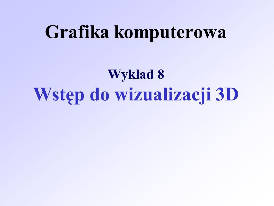 Grafika komputerowa Wykład 8 Wstęp do wizualizacji 3D