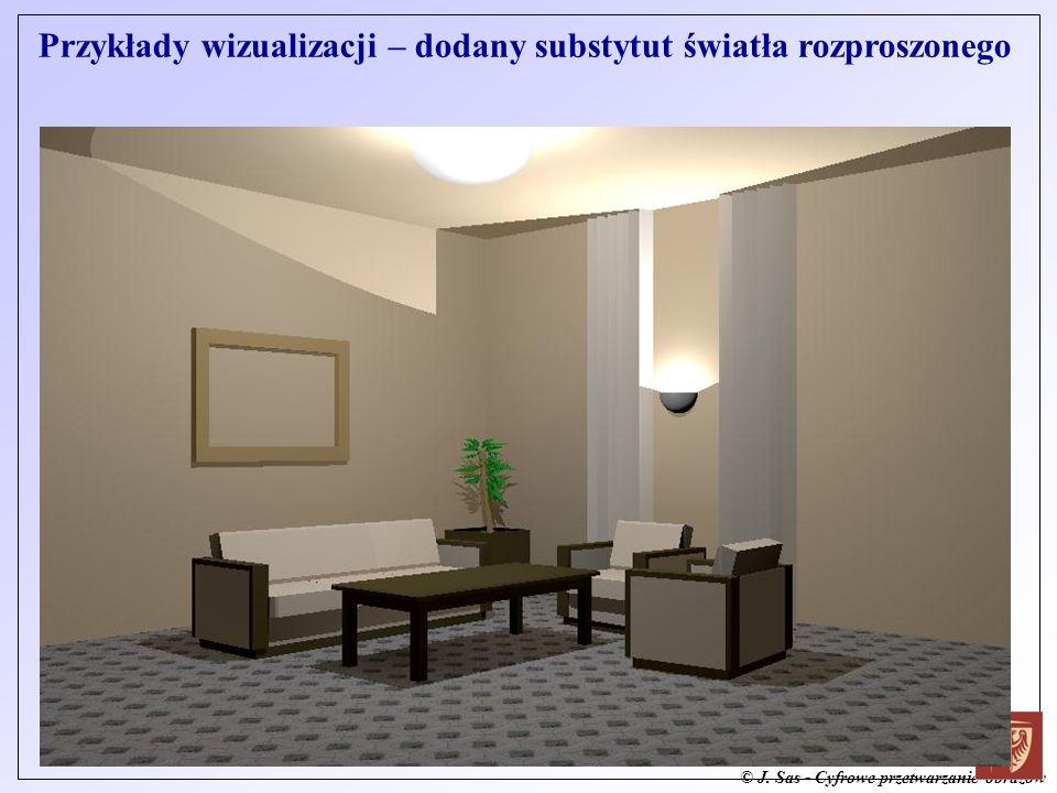 Przykłady wizualizacji – dodany substytut światła rozproszonego