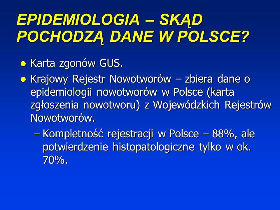 EPIDEMIOLOGIA – SKĄD POCHODZĄ DANE W POLSCE