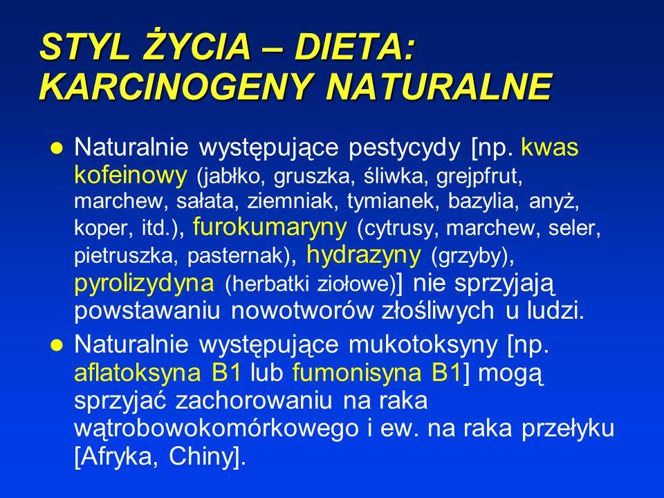 STYL ŻYCIA – DIETA: KARCINOGENY NATURALNE