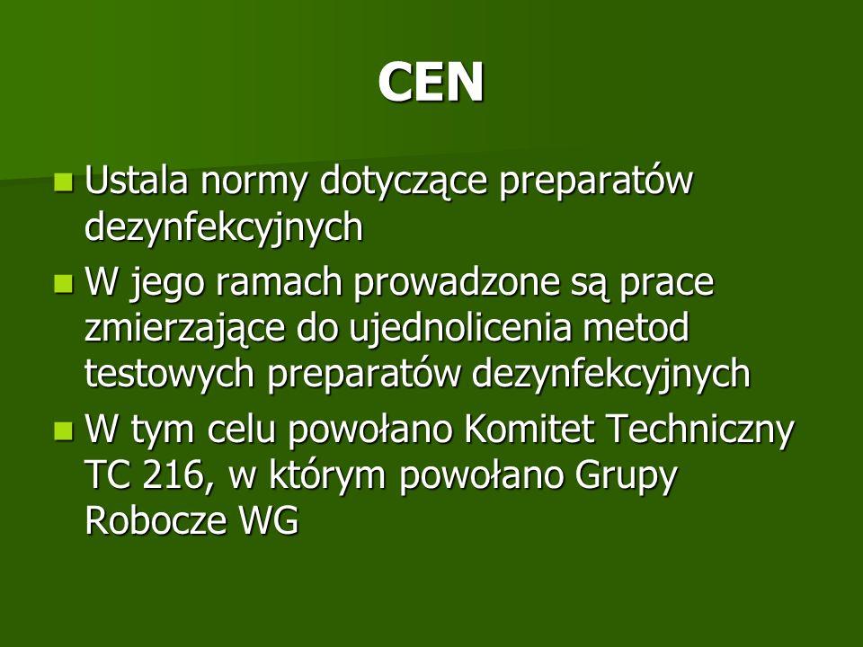 CEN Ustala normy dotyczące preparatów dezynfekcyjnych
