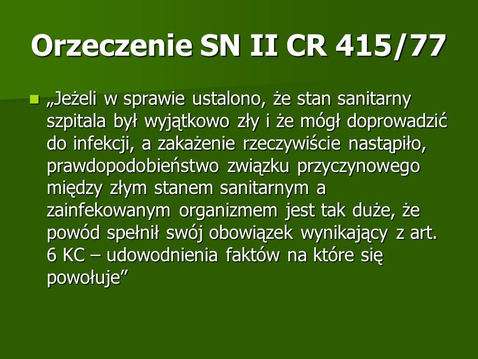 Orzeczenie SN II CR 415/77