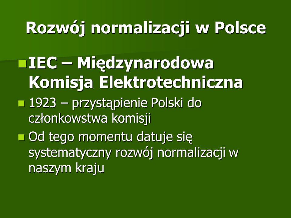 Rozwój normalizacji w Polsce