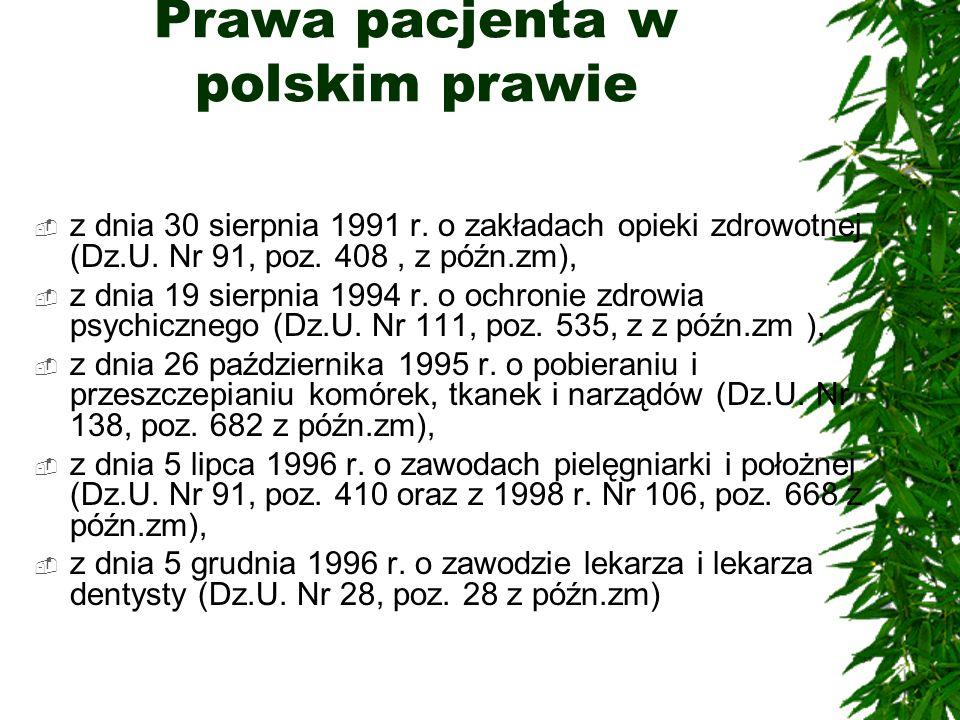 Prawa pacjenta w polskim prawie