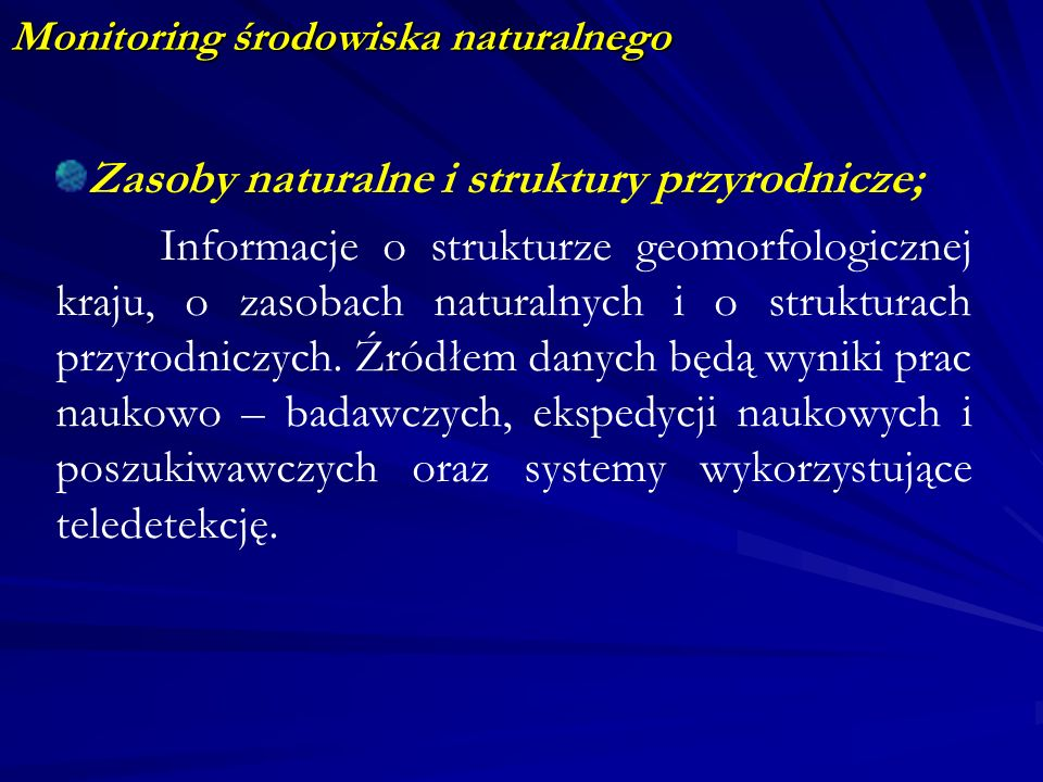 Monitoring środowiska naturalnego