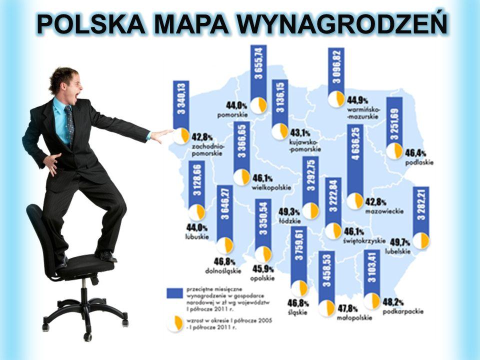 POLSKA MAPA WYNAGRODZEŃ