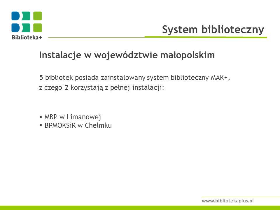 System biblioteczny Instalacje w województwie małopolskim