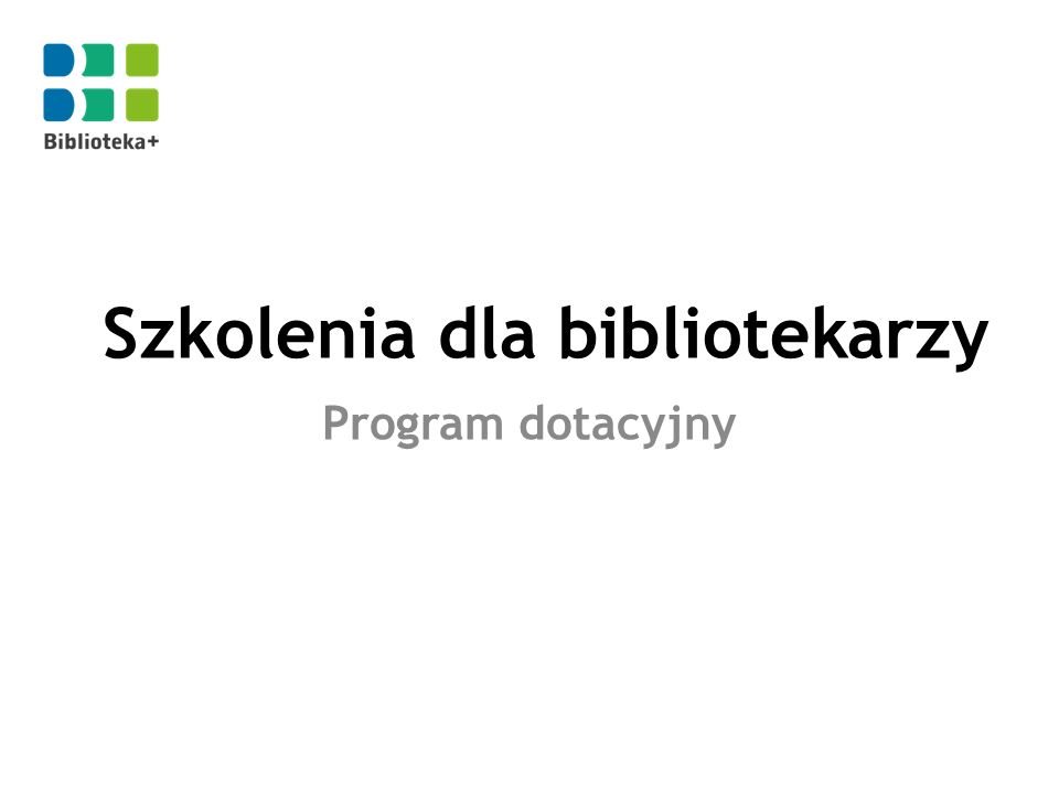 Szkolenia dla bibliotekarzy