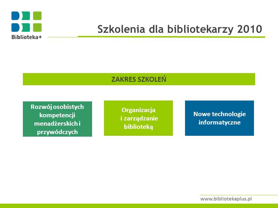Szkolenia dla bibliotekarzy 2010
