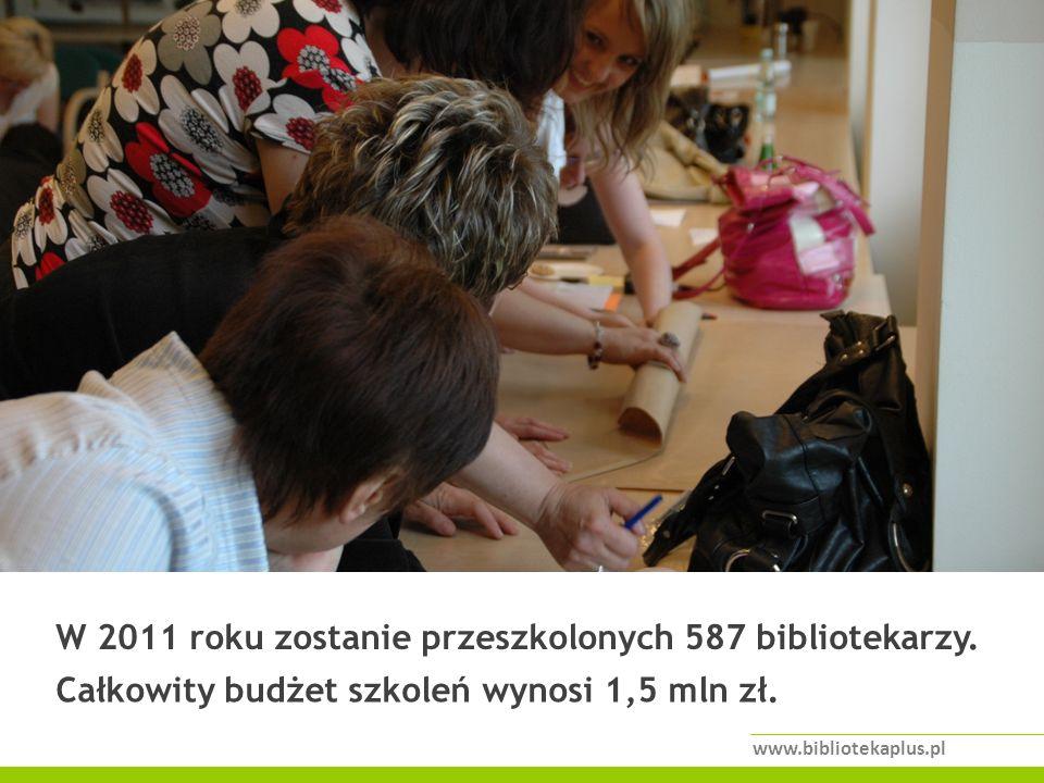 W 2011 roku zostanie przeszkolonych 587 bibliotekarzy.