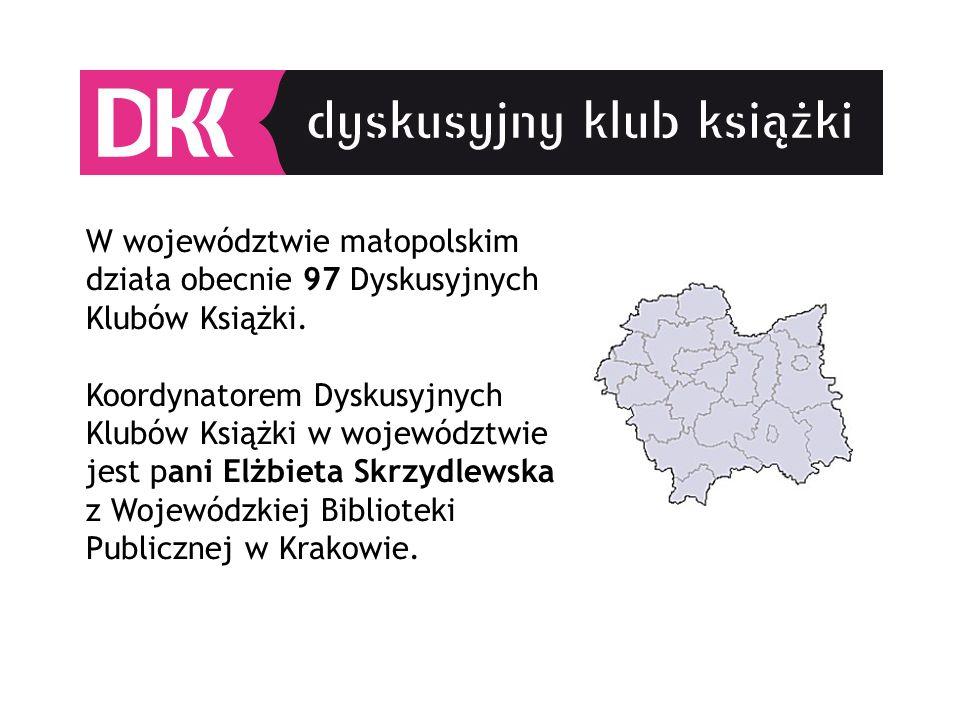 W województwie małopolskim działa obecnie 97 Dyskusyjnych Klubów Książki.