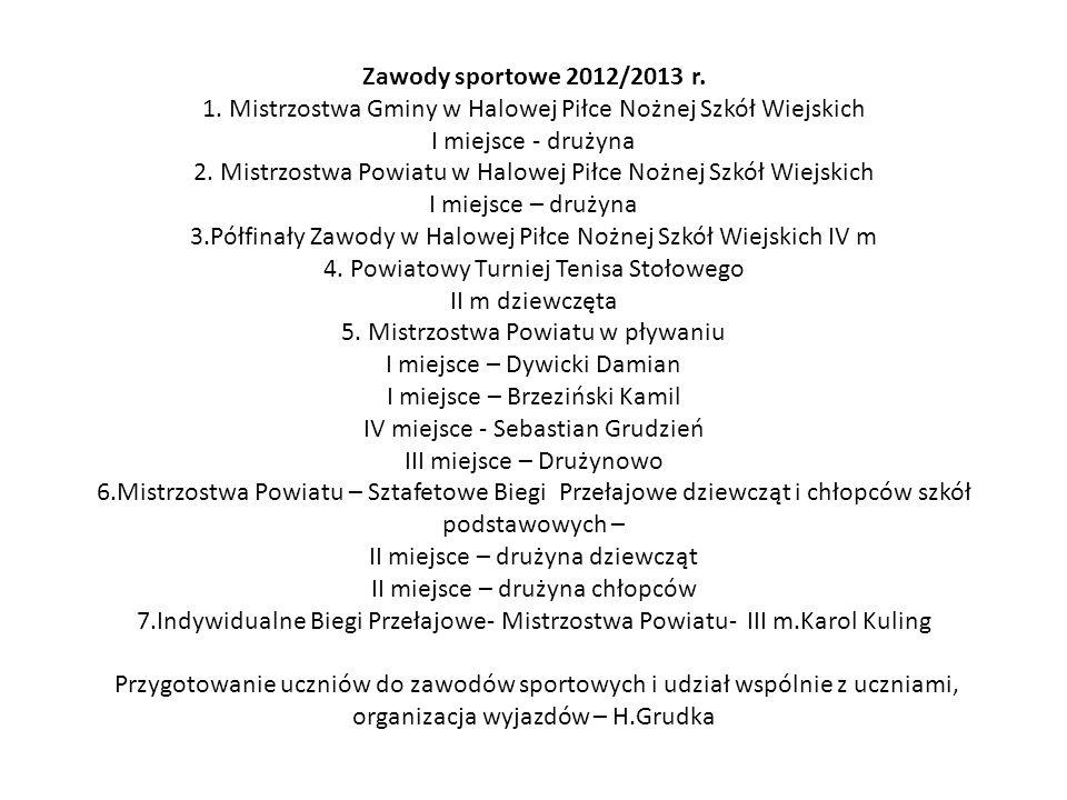 Zawody sportowe 2012/2013 r. 1.
