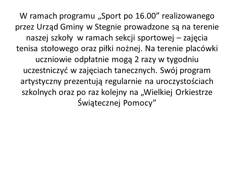 """W ramach programu """"Sport po 16"""