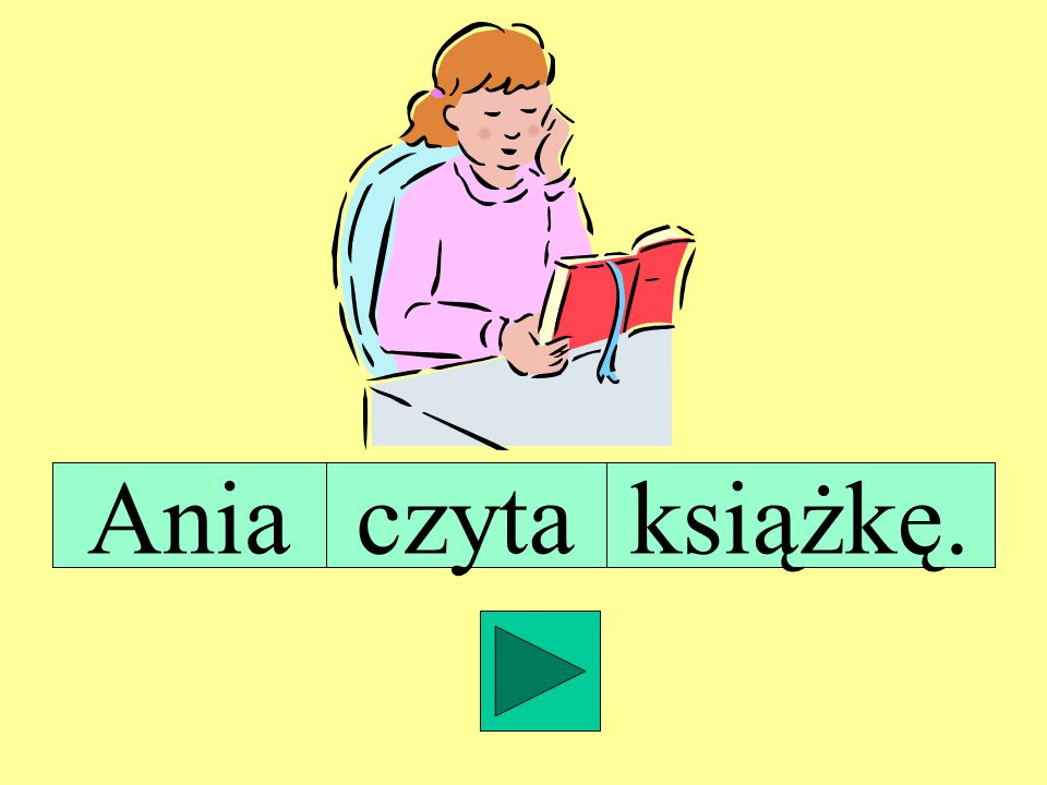 Ania czyta książkę.