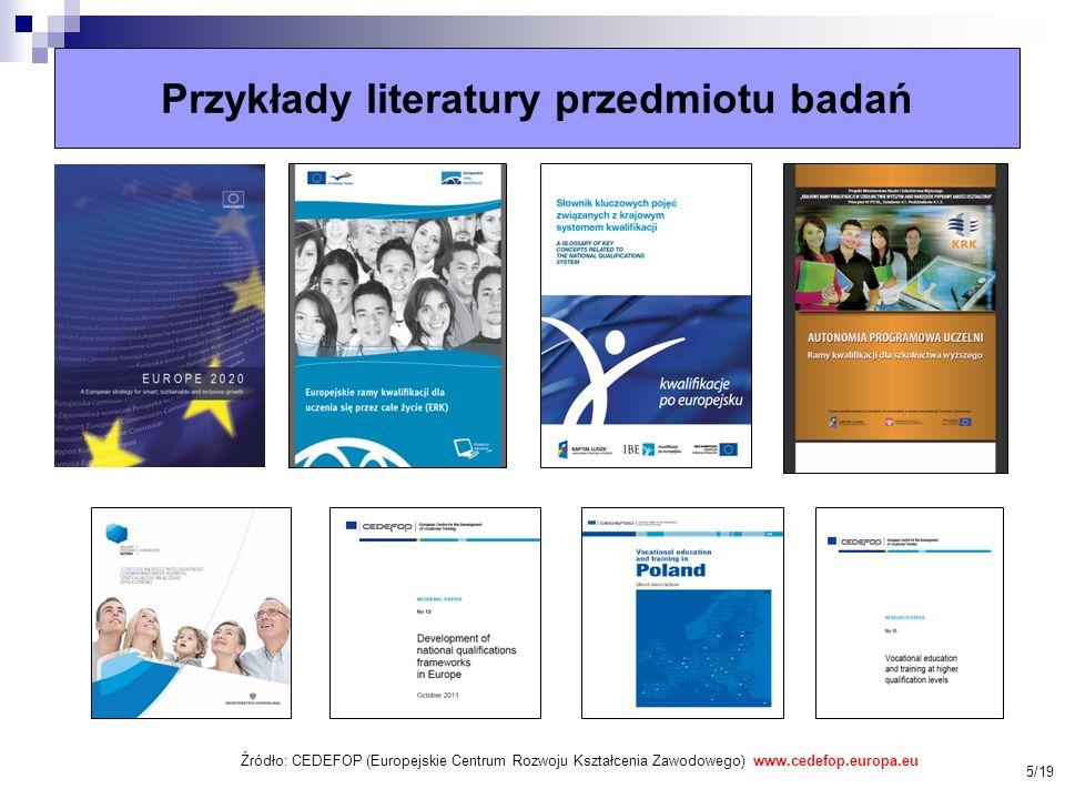 Przykłady literatury przedmiotu badań