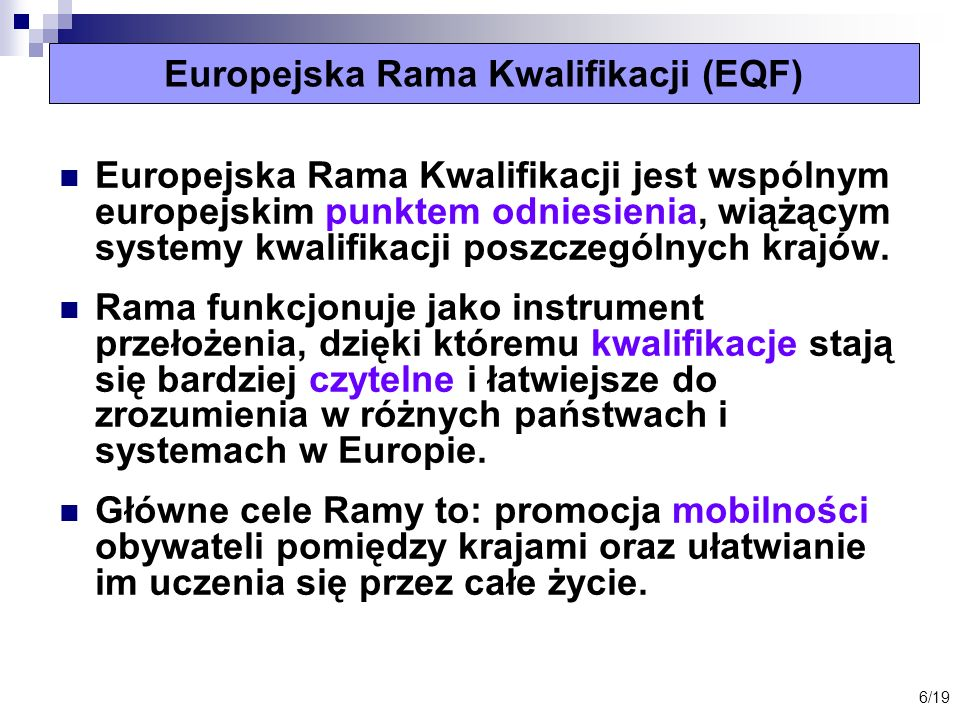 Europejska Rama Kwalifikacji (EQF)