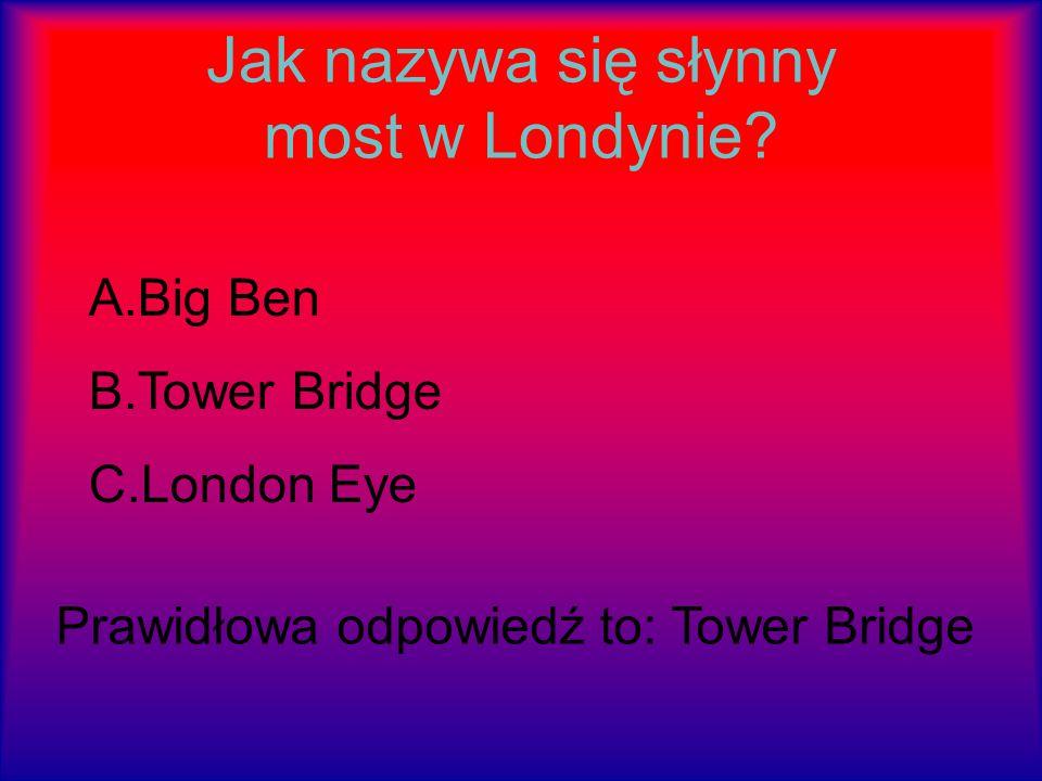 Jak nazywa się słynny most w Londynie