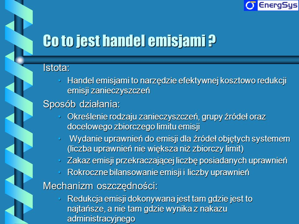 Co to jest handel emisjami