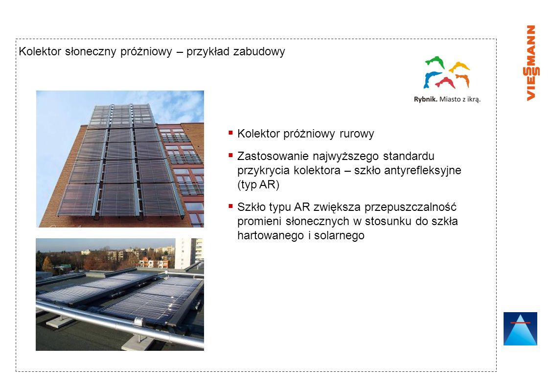 Kolektor słoneczny próżniowy – przykład zabudowy
