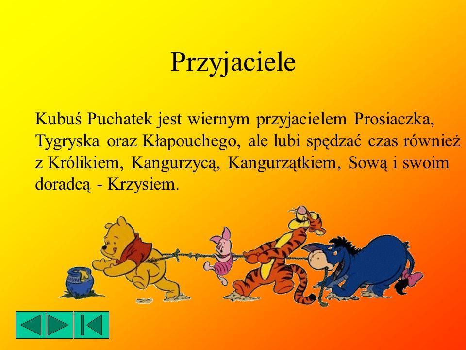 Przyjaciele Kubuś Puchatek jest wiernym przyjacielem Prosiaczka,