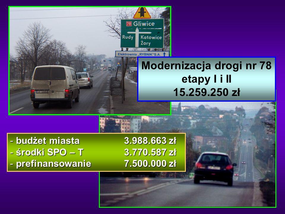 Modernizacja drogi nr 78 etapy I i II