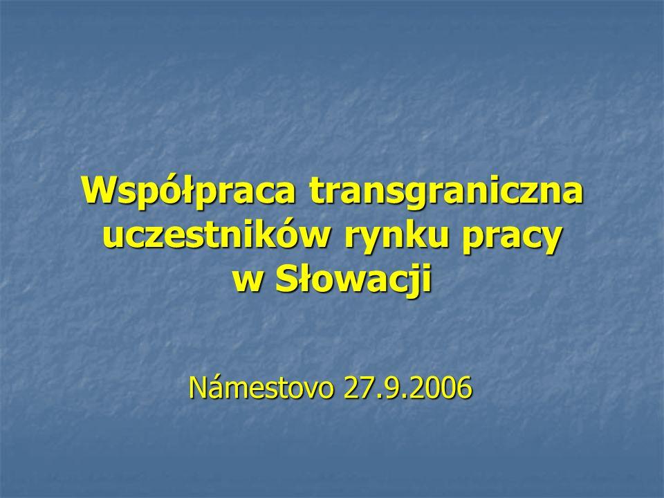 Współpraca transgraniczna uczestników rynku pracy w Słowacji