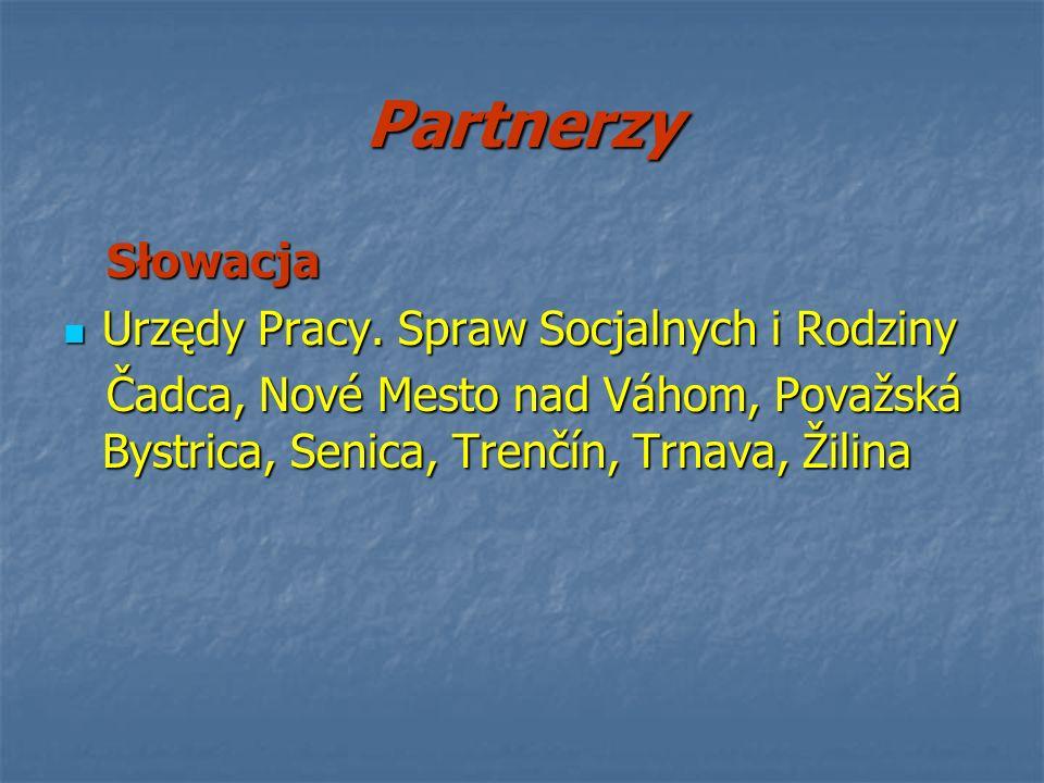 Partnerzy Słowacja Urzędy Pracy. Spraw Socjalnych i Rodziny