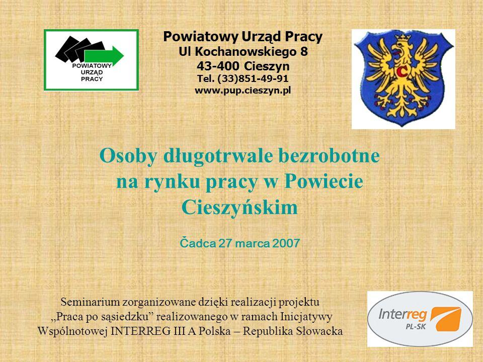 Osoby długotrwale bezrobotne na rynku pracy w Powiecie Cieszyńskim