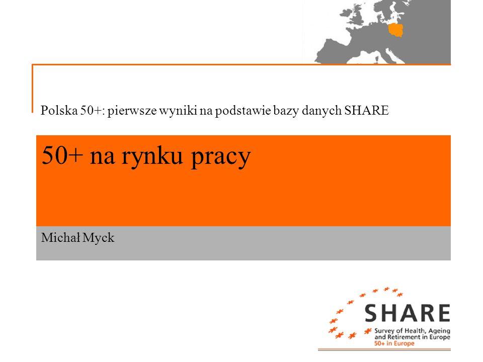 Polska 50+: pierwsze wyniki na podstawie bazy danych SHARE