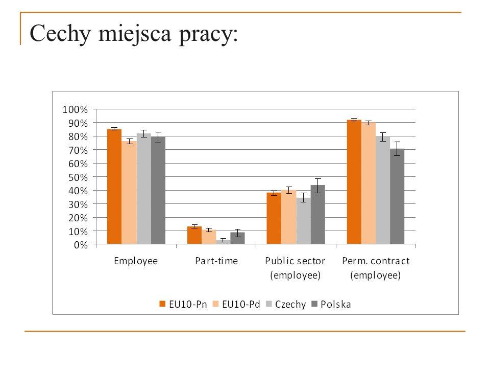 Cechy miejsca pracy: