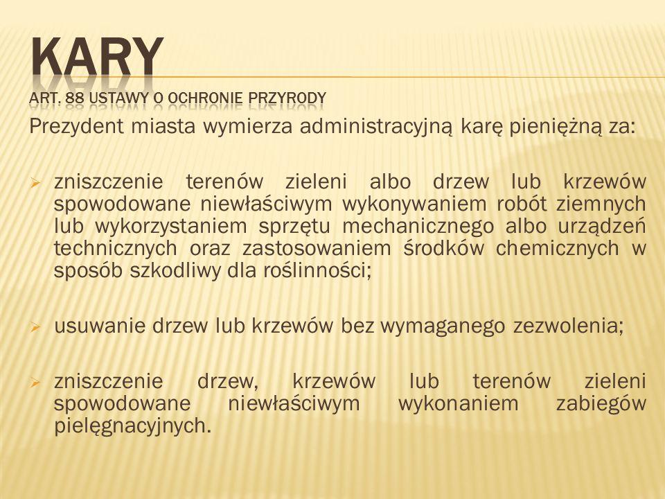 Kary Art. 88 ustawy o ochronie przyrody