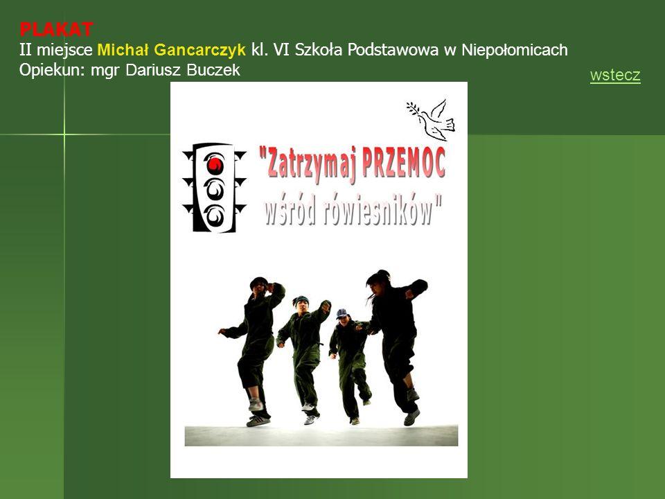 PLAKAT II miejsce Michał Gancarczyk kl