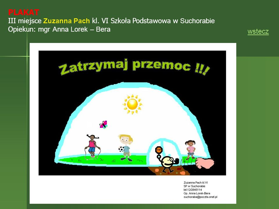 PLAKAT III miejsce Zuzanna Pach kl