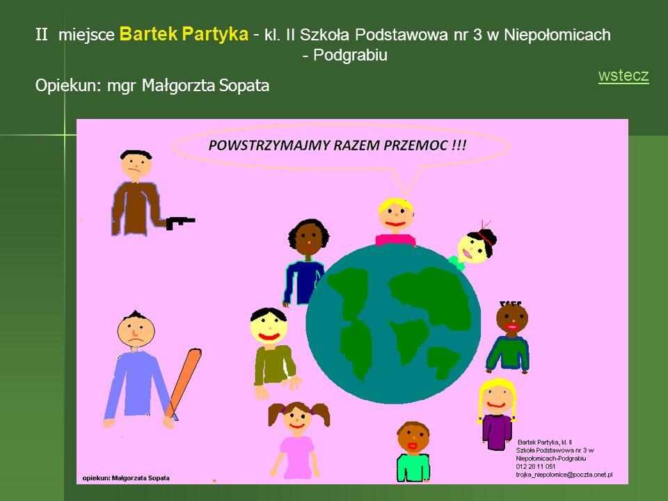 II miejsce Bartek Partyka - kl