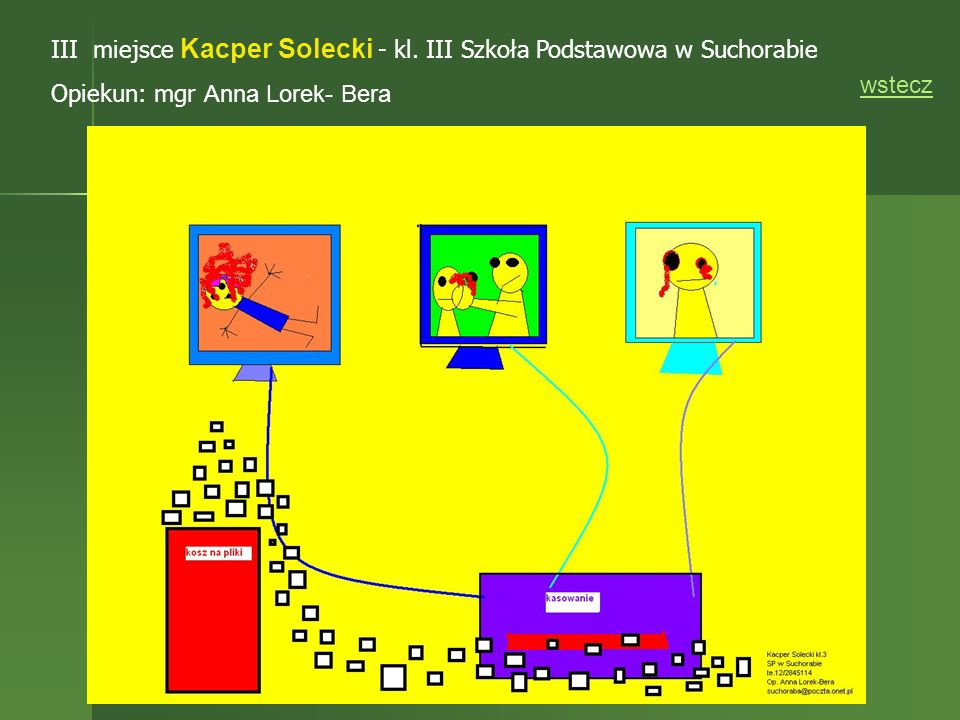 III miejsce Kacper Solecki - kl. III Szkoła Podstawowa w Suchorabie
