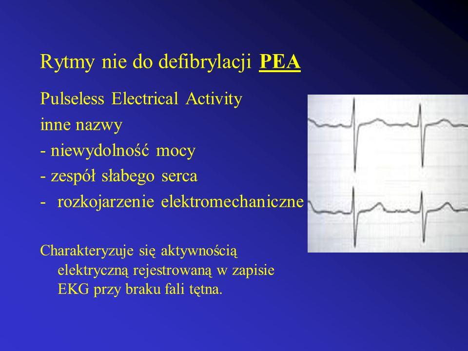Rytmy nie do defibrylacji PEA