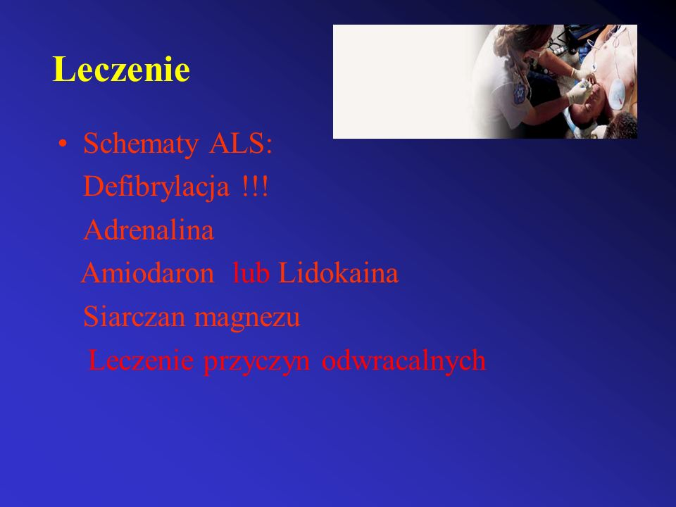 Leczenie Schematy ALS: Defibrylacja !!! Adrenalina