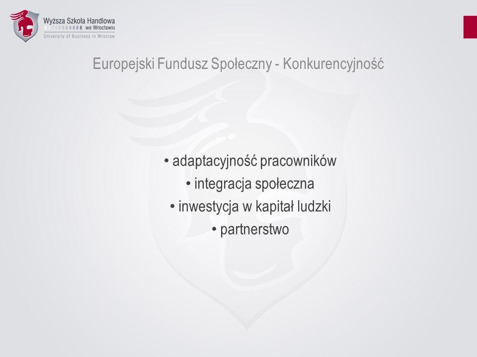 Europejski Fundusz Społeczny - Konkurencyjność