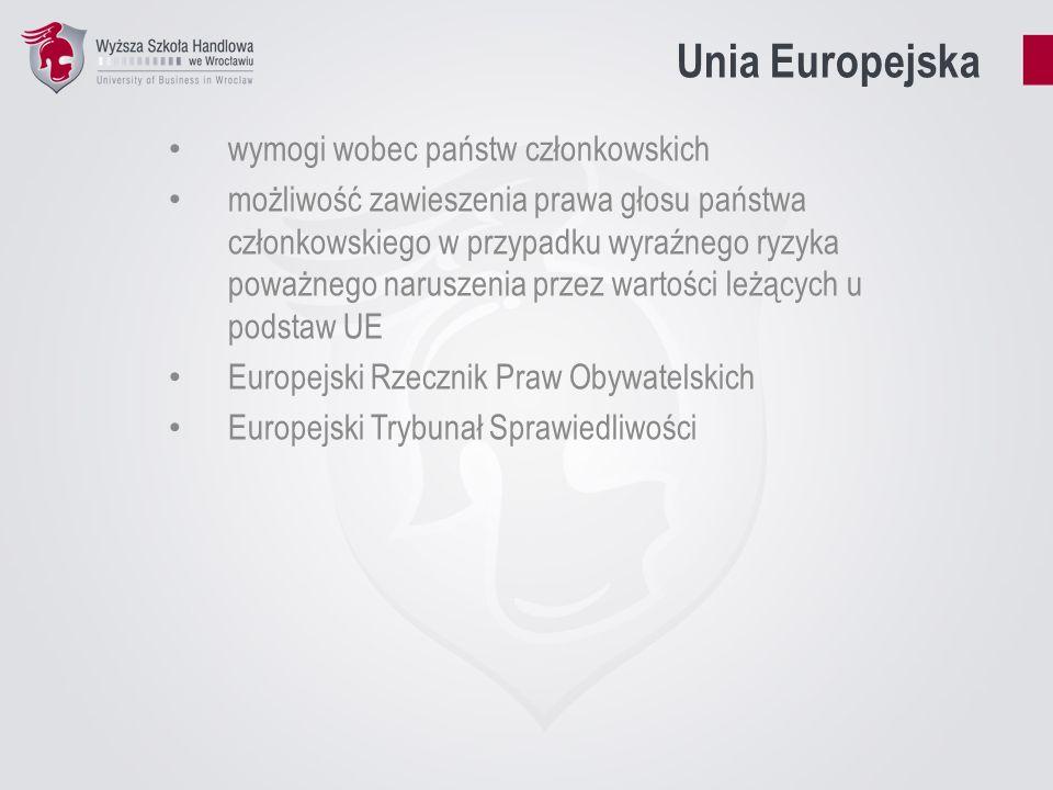 Unia Europejska wymogi wobec państw członkowskich