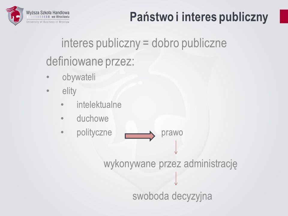 Państwo i interes publiczny