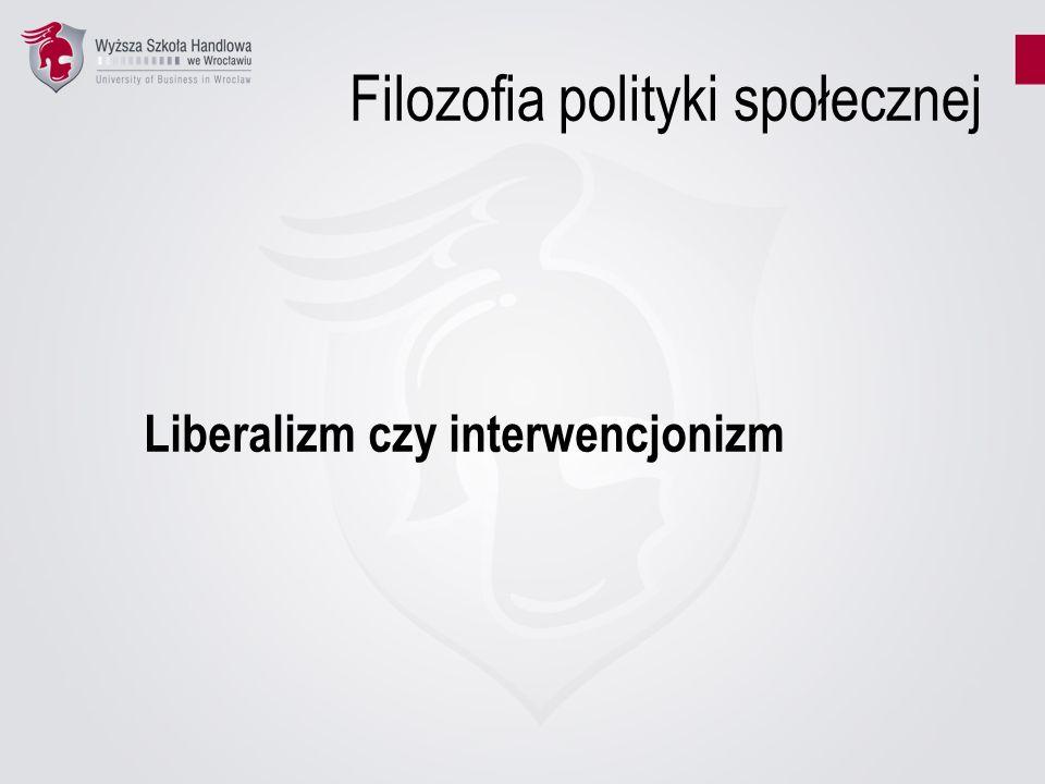 Filozofia polityki społecznej