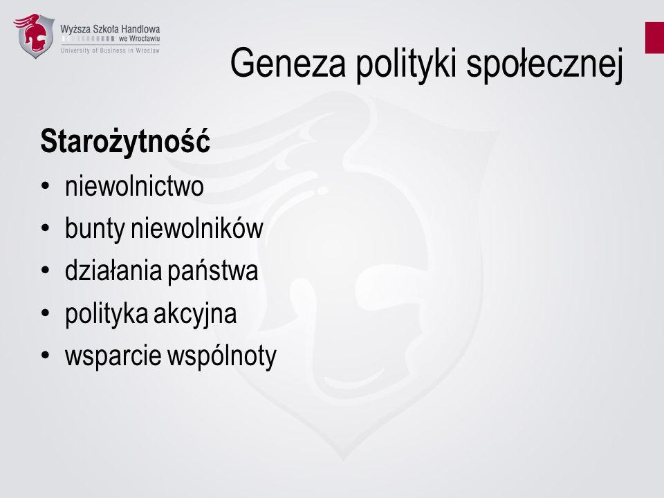Geneza polityki społecznej
