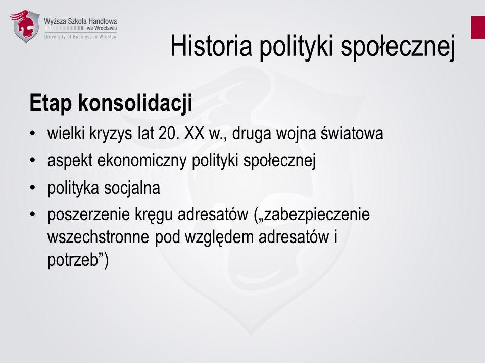 Historia polityki społecznej