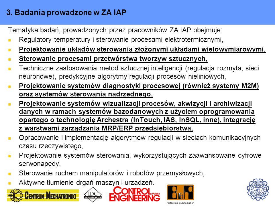3. Badania prowadzone w ZA IAP