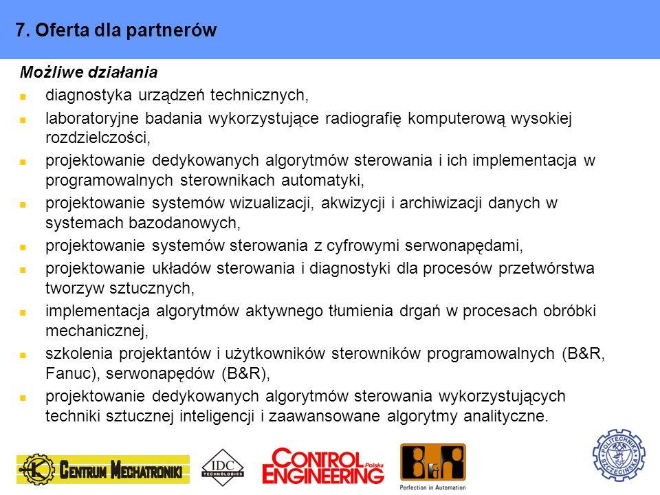 7. Oferta dla partnerów Możliwe działania