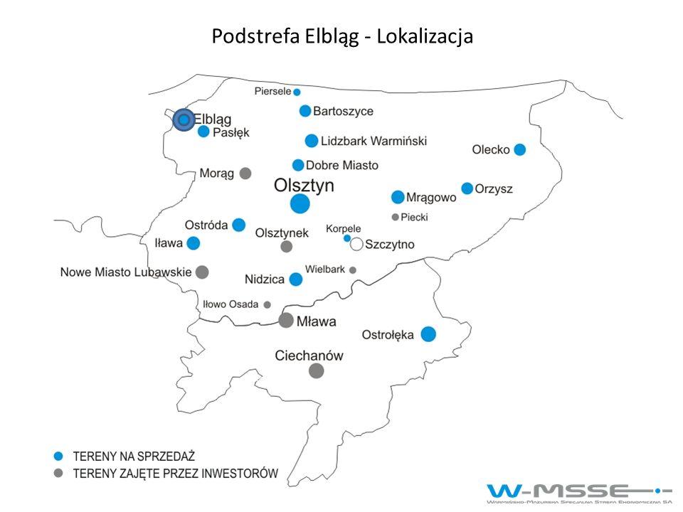 Podstrefa Elbląg - Lokalizacja