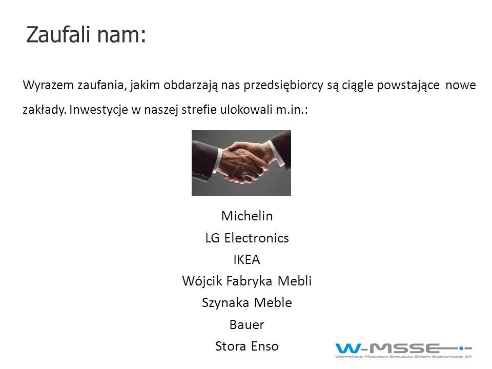 Zaufali nam: Michelin LG Electronics IKEA Wójcik Fabryka Mebli
