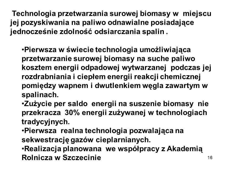 Realizacja planowana we współpracy z Akademią Rolnicza w Szczecinie