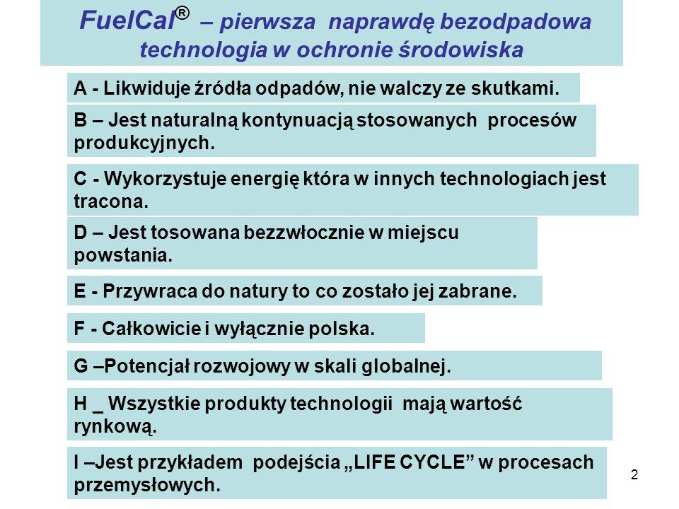 FuelCal® – pierwsza naprawdę bezodpadowa technologia w ochronie środowiska